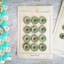 お花の形のボタンシート モスグリーン(大)12個+ばら1個の計13個セット