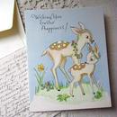 バンビのイースターカード