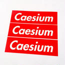 Caesium Sticker 3pcs