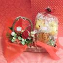森のクリスマスをイメージして作った白樺の器に冬の焼き菓子6袋のセット