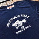 Needolls / Dude Junior High School TEE  INDIGO