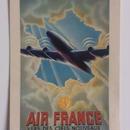ビンテージ ポストカード エールフランス 1946年 新しい空へ