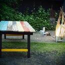 エイジング加工アウトドアテーブル