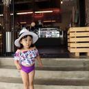 kids★off shoulder Flower Bikini