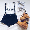 kids★cutoff stretch denim short pants