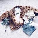 kids★volume knit cardigan