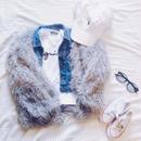 kids★shaggy fur coat