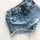 kids★数量限定 damage vintage denim short pants