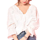 【ladies】lace scallop tops
