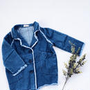 kids★fringe denim jacket