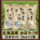 平成30年 北海道産 おぼろづき 白米セット(5kg×3袋)15kg