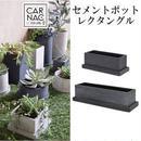 新色 ブラック! セメントポットレクタングルブラック Sサイズ多肉植物や塊根植物に