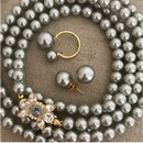 Lady Pearl Set Light Gray