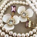 Perle de Fleur Mauve Pink イヤリング/ピアス