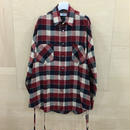 FACETASM / MRC SH U02 / WIDE CHECK SHIRT (RED)