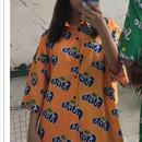 ファンタ(オレンジ)総柄シャツ
