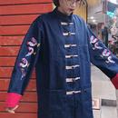 袖刺繍デニムチャイナジャケット