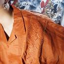 超OVERSIZEオープンカラーリネンシャツ (red brown)