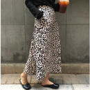 ladies//leopard flare skirt