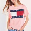 超人気 トミーヒルフィガーTシャツ 半袖 男女兼用 ピンク 限定