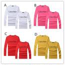 秋新作 長袖 カジュアル カルバンクライン Calvin Kleinスウェット インナーアウター両用 4色選択 男女サイズ