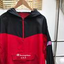 CHAMPION/チャンピオン ハーフジップナイロンフードジャケット 90年代(DEADSTOCK)