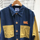GOS/ジーオーエス コーディロイ/デニム切り替えシャツ 90年代 (DEADSTOCK)