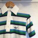 adidas/アディダス ボーダーポロシャツ 80年代 (USED)