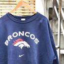 NIKE/ナイキ NFL DENVER  BRONCOS ロゴスウェット 90年代 Made In USA (USED)