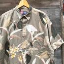 CHAPS RALPH LAUREN/チャップスラルフローレン ボタンダウン半袖柄シャツ 90年代 (USED)