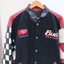 JEFF HAMILTON BUDWEISER RACING/ジェフハミルトン バドワイザーレーシング リバーシブルスタジャン 90年代 (USED)