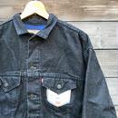 Levi's/デニムリーバイス57510 裏地付きブラックデニムジャケット 90年代 Made  In USA  (DEADSTOCK)