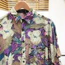 SHAH SAFARI/サーサファリ レーヨン柄シャツ 90年代  (USED)