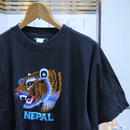NEPAL/ネパール 刺繍Tシャツ 90年代 (USED)