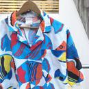 熱帯魚柄 オープンカラー アロハシャツ 90年代 (USED)
