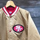 ChalkLine/チョークライン NFL サンフランシスコ49ers サテンブルゾン 90年代 Made In USA (USED)