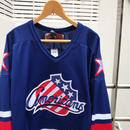 NHL americans/エヌエイチエル アメリカンズ メッシュ ホッケーシャツ 2000年前後 Made In CANADA (USED)