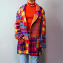 Vintage  Wool  Check Jacket