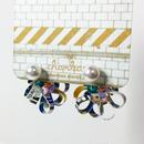 Metrocard pierced earrings メトロカードピアス/フラワーキャッチタイプ・パール×シルバー 01