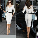 海外インポートセレクトミランダカー着用ドレスデザインホワイトワンピースドレスベルト付白