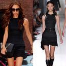 海外インポートセレクトブラックタートルデザインミニワンピースドレス黒色