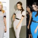 海外インポートセレクトグレー襟付きミディー丈ワンピースドレス海外セレブファッション