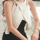 レディース 海外 インポート ブラック ホワイト バイカラー キャミソール ポンチョ 付き ワンピース ドレス