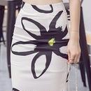 海外インポートセレクトトップスホワイトフラワーミディ丈タイトスカートセットアップワンピースドレス花柄