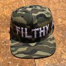FILTHY HAWAII   Snap back Cap   カモフラ/ホワイト