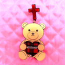 tedybear piercing/clip earing  for one earふ