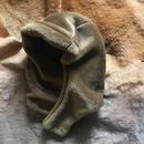 [ fake fur hood]brown