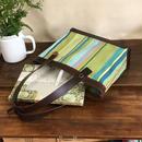 きれいな生地のトートバッグ(生地・革色のセミオーダー)
