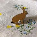 動物ピンバッチ*ウサギ