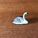 動物ピンバッチ*白鳥